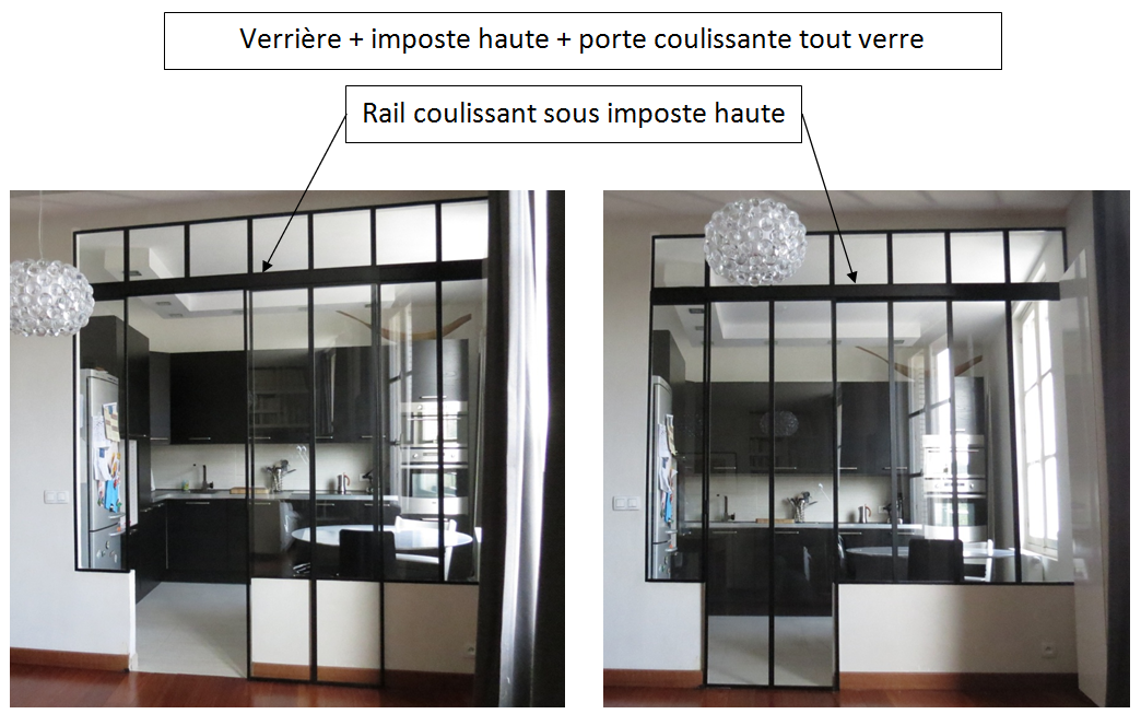 Verri re d 39 int rieur for Verriere coulissante interieur